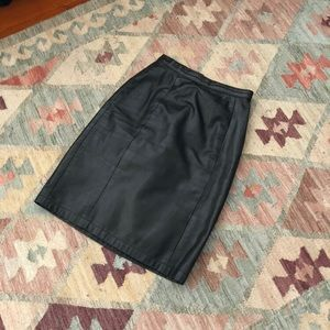 Vintage | Leather Skirt